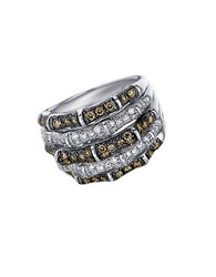 Le Vian Chocolate And White Diamond 14K Yellow Gold Ring 0.89 Tcw