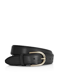 Reiss Viola Double Layer Leather Belt Black Gold