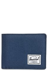 Herschel Men's Supply Co. Hank Rfid Bifold Wallet Blue Navy Tan