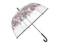 Vera Bradley Auto Open Bubble Umbrella Parisian Paisley Umbrella Brown