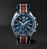 Tag Heuer Formula 1 Chronograph 43Mm Steel And Nato Webbing Watch Blue