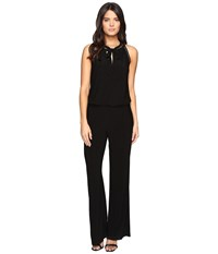 Laundry By Shelli Segal Sleeveless Jumpsuit With Trim Details Black Women's Jumpsuit And Rompers One Piece