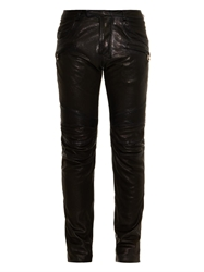 Balmain Biker Leather Trousers