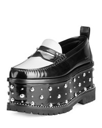 Givenchy Cambridge Studded Platform Loafer Black