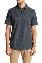 Burnside Check Print Short Sleeve Novelty Shirt Black