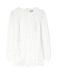 Whistles Lace Tunic Top Ivory