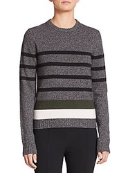 Aquilano Rimondi Striped Crewneck Sweater Grey Multi