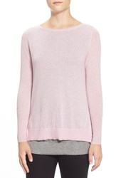Petite Women's Halogen Double Layer Cashmere Sweater