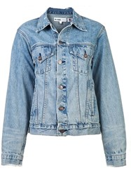Re Done Perfect Oversized Trucker Jacket Blue
