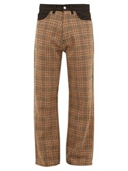 Our Legacy Houndstooth Wool Trousers Beige