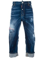 Dsquared2 Big Brother Bleached Distressed Jeans Blue