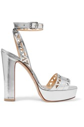 Bionda Castana Zoe Laser Cut Metallic Patent Leather Sandals