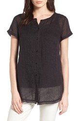Eileen Fisher Women's Button Front Organic Linen Tunic