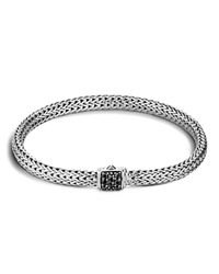 John Hardy Classic Chain Sterling Silver Lava Extra Small Bracelet With Black Sapphire Black Silver