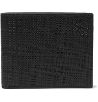 Loewe Embossed Cross Grain Leather Billfold Wallet Black