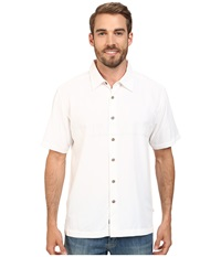 Quiksilver Waterman Tahiti Palms 4 Traditional Polynosic Woven Top White Men's Clothing