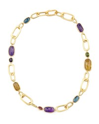 Murano 18K Mixed Stone Link Necklace 20'L Marco Bicego Purple