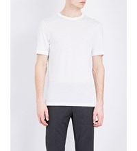 Joseph Crewneck Cotton Jersey T Shirt White