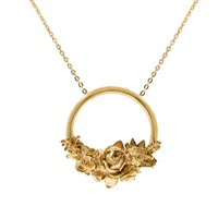 Lee Renee Rose Halo Necklace Gold Gold Yellow Orange