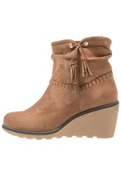 Anna Field Wedge Boots Toffee Taupe
