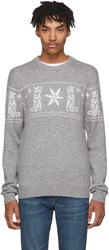 Tiger Of Sweden Grey And Snowflake Leach Pullover