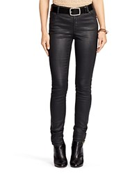 Lauren Ralph Lauren Coated Skinny Jeans Black