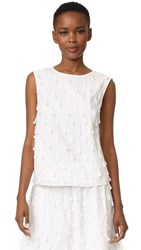 M.Patmos Camille Cotton Top White
