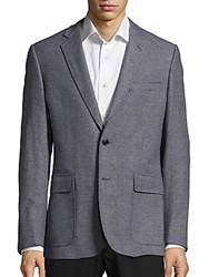Billy Reid Long Sleeve Wool Coat Blue Grey