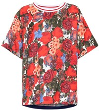 Marni Floral T Shirt Red