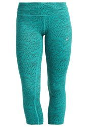 Nike Performance Power Epic Tights Teal Charge Midnight Turq Green