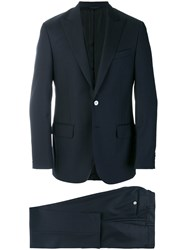 Dell'oglio Slim Fit Formal Suit Cupro Wool Blue