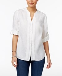 Charter Club Petite Pintucked Shirt Only At Macy's Bright White