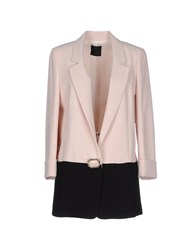 Pinko Black Suits And Jackets Blazers Women Light Pink