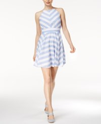 Maison Jules Kimberly Striped Fit And Flare Dress Only At Macy's Lavender Lust Combo