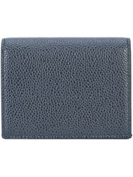 Thom Browne Double Card Holder Leather Blue