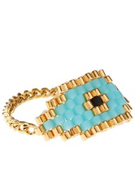 Zozishine X Dodo Bar Or Gold And Turquoise Evil Eye Ring Multi