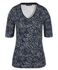 Olsen Fish Print T Shirt Navy