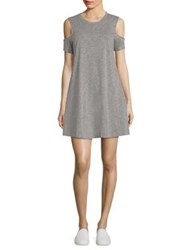 Feel The Piece Eads Cold Shoulder Dress Heather Grey