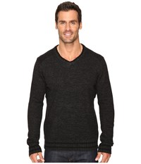 Smartwool Larimer V Neck Top Charcoal Heather Men's Long Sleeve Pullover Gray