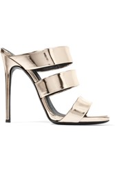 Giuseppe Zanotti Mirrored Leather Sandals Gold