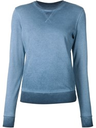 321 Washed Crew Neck Sweatshirt Blue