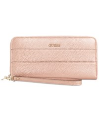 Guess Katiana Large Zip Around Boxed Wallet A Macy's Exclusive Style Rose Gold