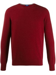 Barba Crew Neck Jumper Red
