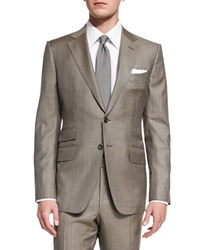 Tom Ford O'connor Base Sharkskin Two Piece Suit Tan