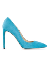 Alberto Moretti Pointed Toe Pumps Blue