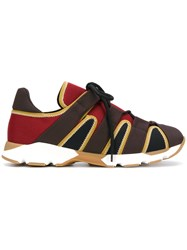 Marni Lace Up Trainers Brown