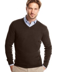 Club Room Cashmere V Neck Solid Sweater Porcupine