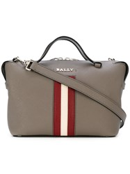 Bally Supra Bowling Crossbody Bag Women Leather One Size Grey