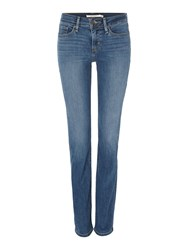 Levi's 714 Straight Leg Jean In Blue Vista Denim Light Wash