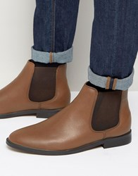 New Look Chelsea Boot In Brown Brown